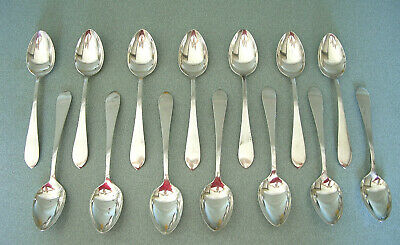 Dominick & Haff Pointed Antique Sterling Silver Set ~ (14) Teaspoons, 6-1/8""