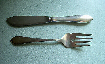 Dominick & Haff Pointed Antique Sterling Silver Set ~ Fish Knife, Salad Fork