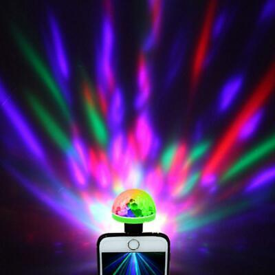 USB Mini LED RGB Disco Stage Light Phone Ball Party Club KTV Xmas Home Decor