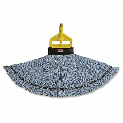 Rubbermaid Commercial Maximizer Blended Mop Heads, Large, Blue