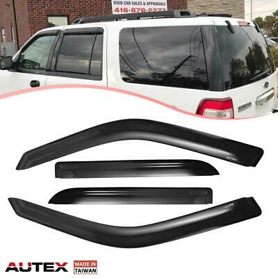 4pcs Light Grey Out-Channel Visor Rain Guards For Lincoln Navigator 1997-2017