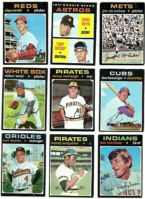 1971 TOPPS COMPLETE YOUR SET - 394-523 - PICKEM - 4 for $2.99 - ROOKIES ++