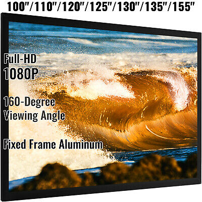 """92""""-155"""" Projector Screen 16:9 160° Viewing White PVC/inflatable screen w/blower"""