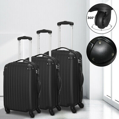 3PCS Travel Luggage Carry On Set Trolley Suitcase Spinner ABS w/Cover New