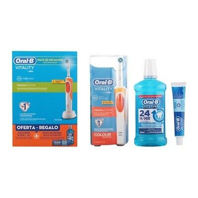 Tandpasta Set met borstel en mondwater Vitality Crossaction Oral-B (3 pcs)