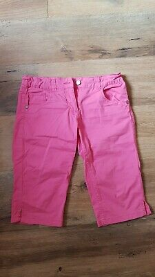 Girl's Pink 3/4 Trousers, Size 12 years