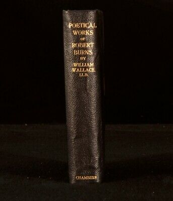 c1902 Poetical Works of Robert Burns, Life and Notes by William Wallace Plates
