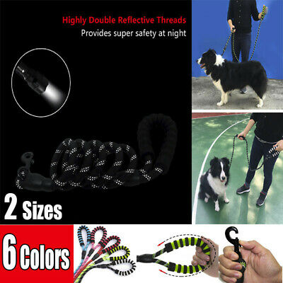 Extra Strong Reflective Rope Dog Lead Leash Padded Handle For Large Dogs 6 Color
