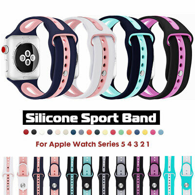 For Apple Watch iWatch Series 5 4 3 2 1 Band 38/40/44/42mm Silicone Sports Strap