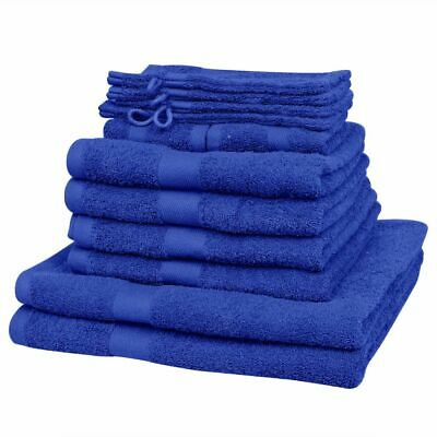 vidaXL Home Towel Set 12pcs Cotton 500gsm Royal Blue Bathroom Shower Textile