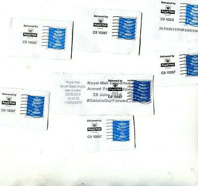 7 x delivered by ROYAL MAIL Postmarks with Fake Second Class Stamps