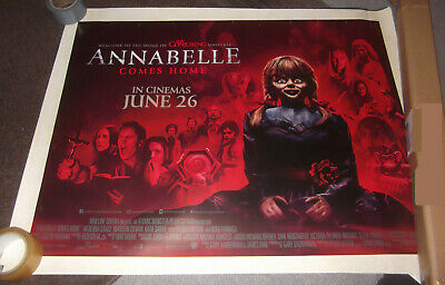 Genuine Uk Quad Cinema Poster - Annabelle Comes Home / Conjuring Universe-2019