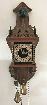 Zaanse Wall Clock Vintage Zaandam ChaIn Driven 1 Day Weights Pendulum Vintage