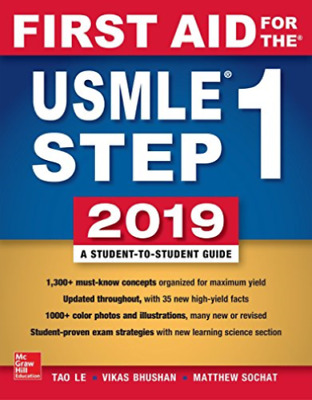 First Aid for the USMLE Step 1 2019 Tao Le, Vikas Bhushan