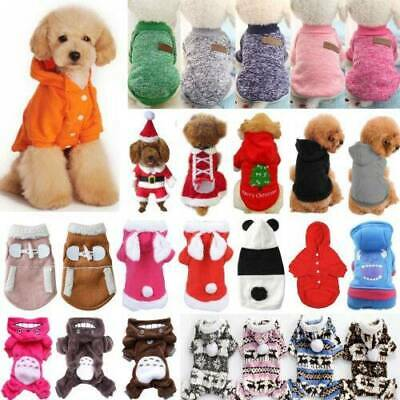 Pet Clothes Knit Puppy Dog Jumper Sweater Yorkie Chihuahua Small Dogs Cat Jumper