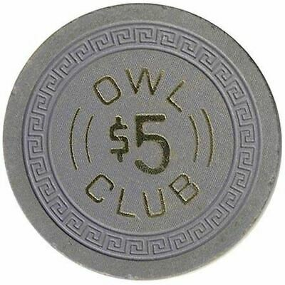 Owl Club Casino Battle Mountain NV $5 Chip 1960