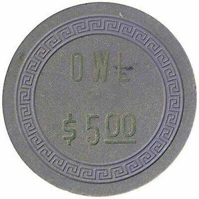 Owl Club Casino Battle Mountain NV $5 Chip 1956