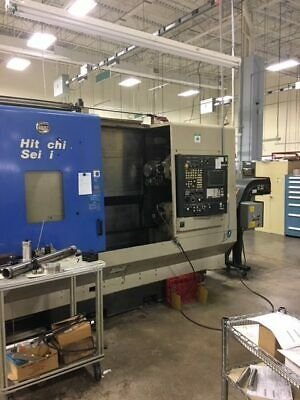 USED HITACHI SEIKI SUPER HICELL CH-250 CNC LATHE 2001 Y-Axis Sub Spindle 60 Tool