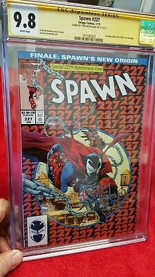 Spawn #227 CGC 9.8 SS Todd McFarlane. Amazing Spider-Man #300 homage cover. NM+
