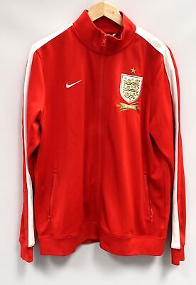 Men's NIKE England 150th Anniversary Embroidered Red Tracksuit Top UK XL - R24