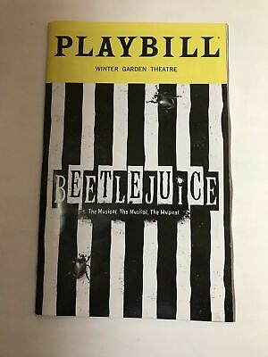 BEETLEJUICE the Musical Playbill Broadway Alex Brightman FREE SHIPPING