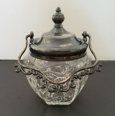 VAN BERGH Quadruple Silver Plate Handled Jelly/Jam Jar