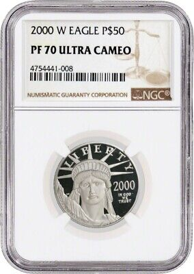 2000 W $50 Proof Platinum American Eagle NGC PF70 Ultra Cameo
