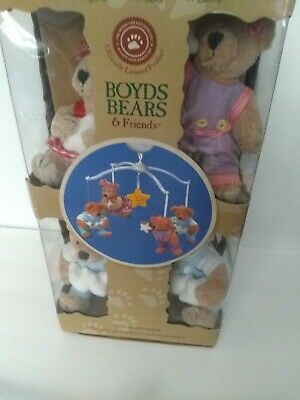 BOYDS BEARS MUSICAL BABY MOBILE Dolly Toy Complete In Box