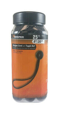 Keeper Black Bungee Ball Cord 8 in. 0 lb. 25 pk