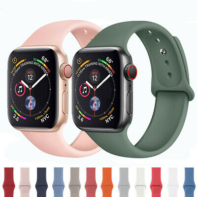 for Apple Watch iWatch Series 3 4 5 Soft SILICONE Sport Strap Band 38/40/42/44mm