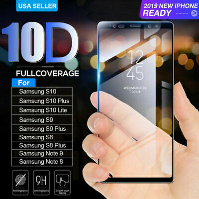 Full Glue Screen Protector For Samsung Galaxy S8 S9 Plus Note9 Tempered Glass AU