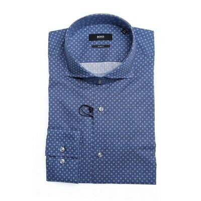 Camicia Hugo Boss Jason Blu 50404816 - 475 Open Blue Uomo