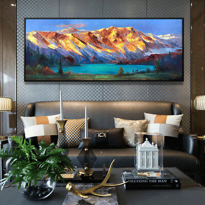 Large Modern HandPainted Natural Landscape Oil Painting Home Decor Art Canvas