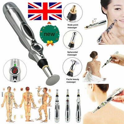 Electronic Acupuncture Pen Electric Meridian Body Massager Pain Relief Therapy