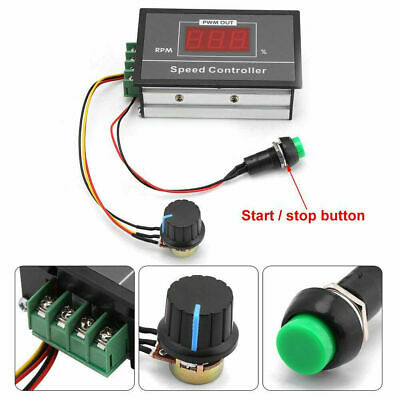 DC6-60V 12V 24V 36V 48V 30A PWM Motor Speed Controller Start Stop Switch J8L1O