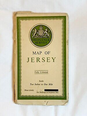 OS, Ordnance Survey Vintage Map of Jersey, 2 Inches to 1 Mile, 1933