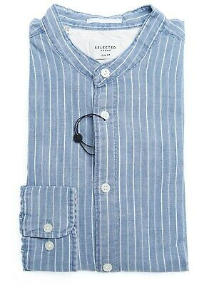 Camicia Selected 16066631 NOLAN Blu 16066631 - Light Blue Uomo
