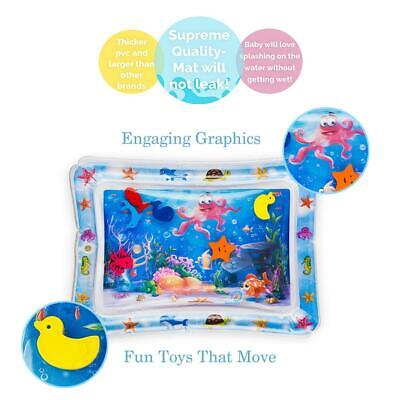 Inflatable Water Mat For Baby Infant Toddlers Mattress Splash Playmat Tummy Toy