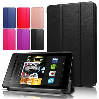 Magnetic Smart Leather Case Cover Stand For 2017 2018 Amazon Kindle Fire 7 HD 8