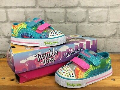 Skechers Twinkle Toe Shuffle Mutlicolour Light Up Trainers Childrens Girls