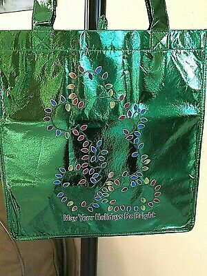Disney Parks Mickey Lights May Your Holidays Be Bright Reusable Tote Bag NEW