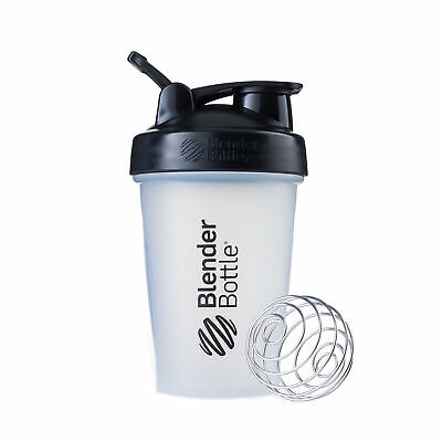BlenderBottle Classic 20 Oz - Black Clear