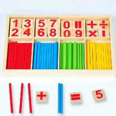 New Educational Wooden Counting Learning Sticks Toy Math Kids Game Developmental