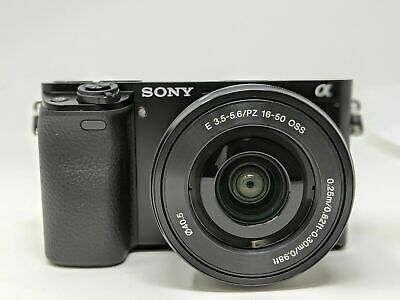 Sony Alpha a6000 Mirrorless Digital Camera with 16-50mm Lens Black Open Box