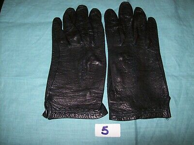 Pair of Lady's ,Vintage, Black Leather Gloves,-Size Medium (lot 5)
