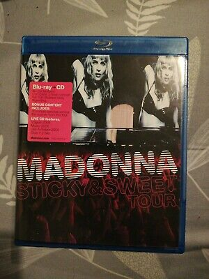 Madonna : The Sticky  Sweet Tour (Blu-ray Disc, 2010, Widescreen) + CD