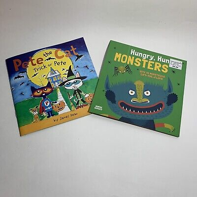 Pete The Cat-Trick Or Pete and Hungry Hungry Monsters!!! Kids Books!!!!!!