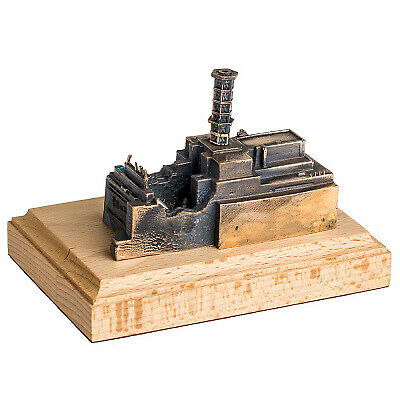 The Chernobyl Nuclear Power Plant wooden - bronze miniature statue with TRITIUM