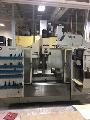 "USED FADAL VMC-4020HT CNC VERTICAL MILL 1993 40.20.20"" Fourth Axis Box Ways"