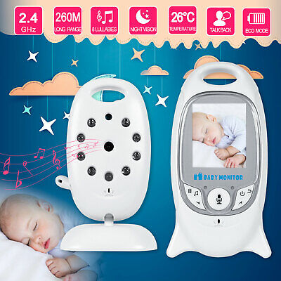 Wireless 2.4GHz Digital Color LCD Baby Monitor Audio Video Camera Night Vision